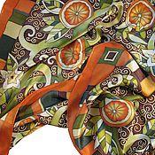 """Аксессуары ручной работы. Ярмарка Мастеров - ручная работа Платок """"Апельсиновое дерево"""". Handmade."""