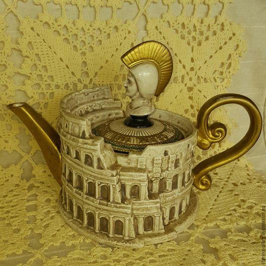Винтажная посуда. Ярмарка Мастеров - ручная работа. Купить Фарфоровый чайник.. Handmade. Бежевый, фарфор