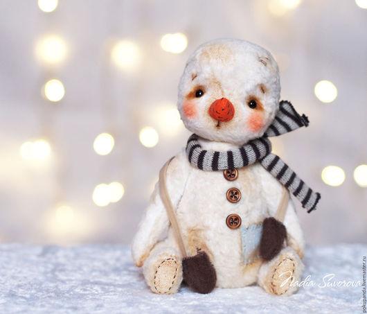 Мишки Тедди ручной работы. Ярмарка Мастеров - ручная работа. Купить Теплый снег. Handmade. Белый, авторская игрушка