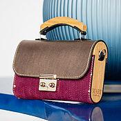 Сумки и аксессуары handmade. Livemaster - original item Women`s bag made of leather and wood Fuksia. Handmade.