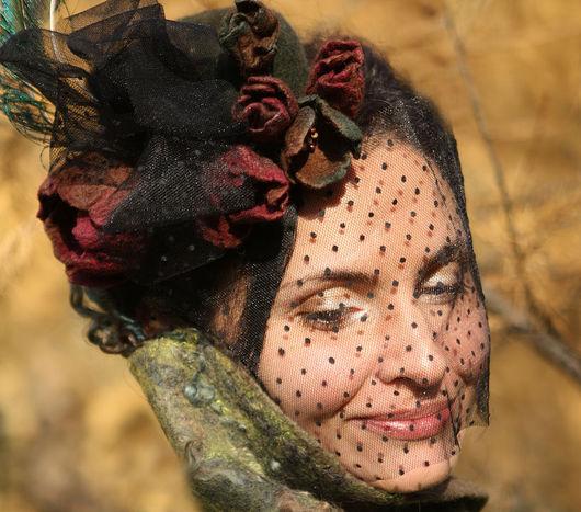 """Шляпы ручной работы. Ярмарка Мастеров - ручная работа. Купить шляпка """"Каренина"""". Handmade. Вечерняя шляпка"""