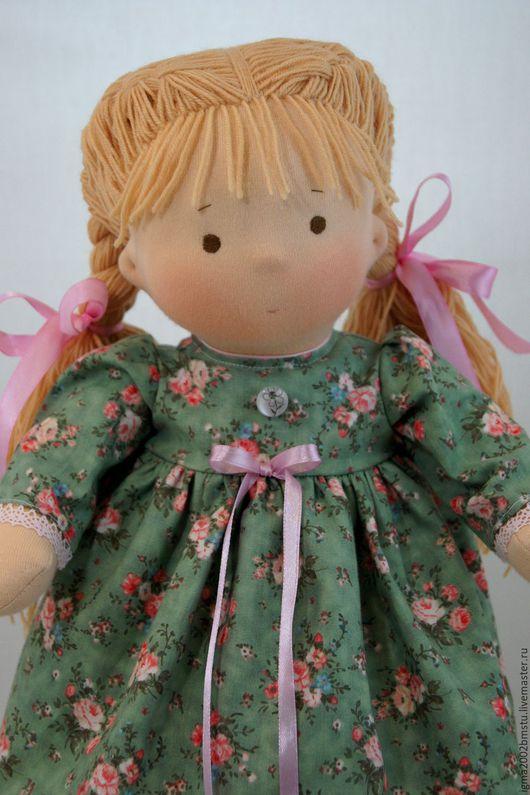 Вальдорфская игрушка ручной работы. Ярмарка Мастеров - ручная работа. Купить Ладушка- куколка по вальдорфским мотивам. Handmade. Зеленый