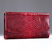 Сумки и аксессуары handmade. Livemaster - original item Python skin wallet IMP0048RB. Handmade.