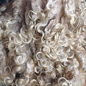 Материалы для творчества handmade. Livemaster - original item Fleece, curls Lincoln. Handmade.