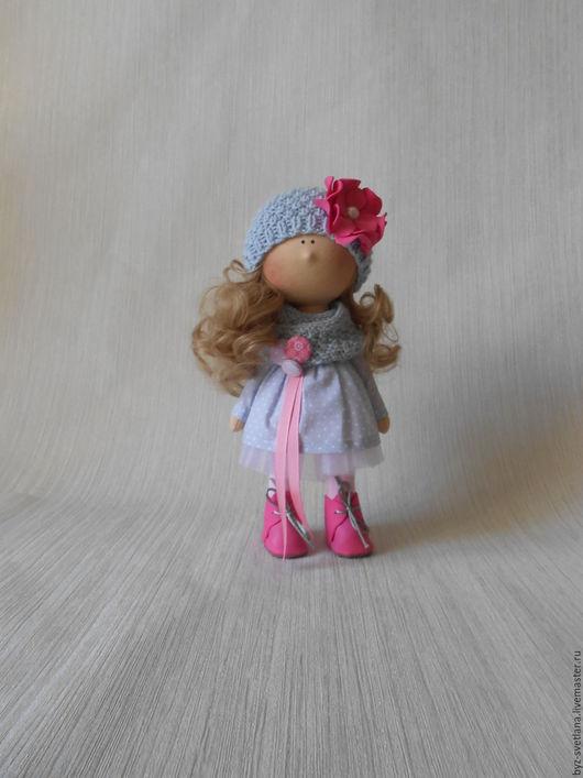 Коллекционные куклы ручной работы. Ярмарка Мастеров - ручная работа. Купить Кукла интерьерная серо-розовая. Handmade. Серый