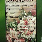 """Для дома и интерьера ручной работы. Ярмарка Мастеров - ручная работа Панно-ключница """"Музыка и розы..."""". Handmade."""