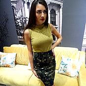 Одежда handmade. Livemaster - original item Formal blouse, stylish shirt sleeveless top. Handmade.