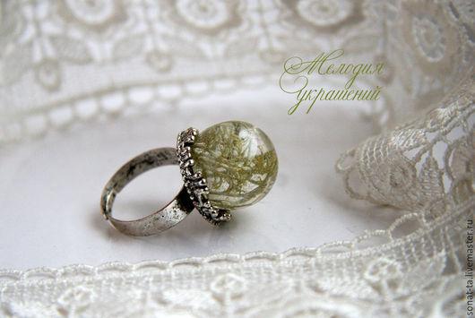 """Кольца ручной работы. Ярмарка Мастеров - ручная работа. Купить Кольцо """"Олений мох"""". Handmade. Комбинированный, необычное украшение, мох"""