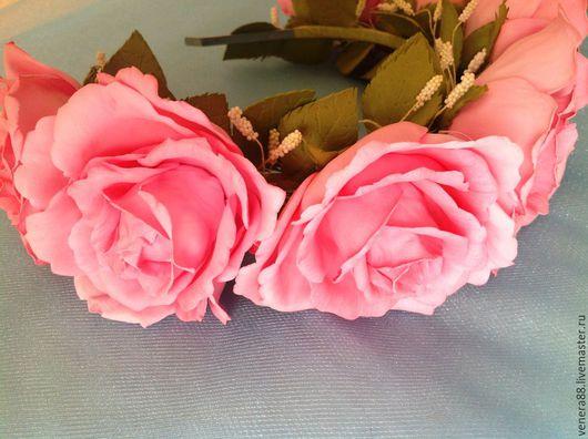 Диадемы, обручи ручной работы. Ярмарка Мастеров - ручная работа. Купить сладко-розовый ободочек. Handmade. Украшения ручной работы