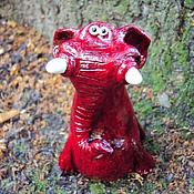 Куклы и игрушки ручной работы. Ярмарка Мастеров - ручная работа Гранатовый слоник. Handmade.