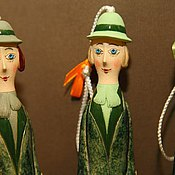 """Куклы и игрушки ручной работы. Ярмарка Мастеров - ручная работа Кукла-колокольчик """"Маленькая Мэри Поппинс"""". Handmade."""