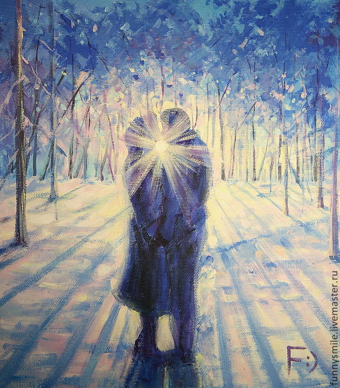 Oil painting on canvas. The dawn of love, Pictures, Moscow,  Фото №1