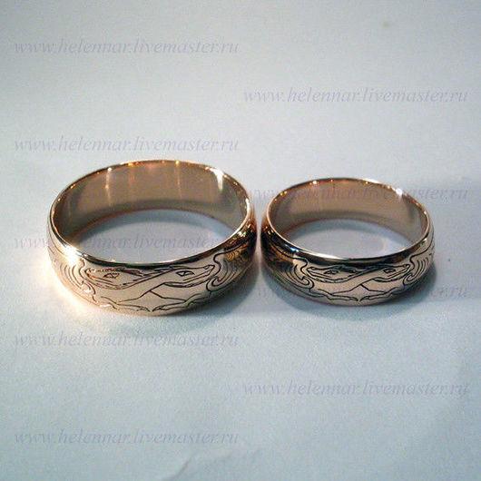 Обручальные кольца с драконами