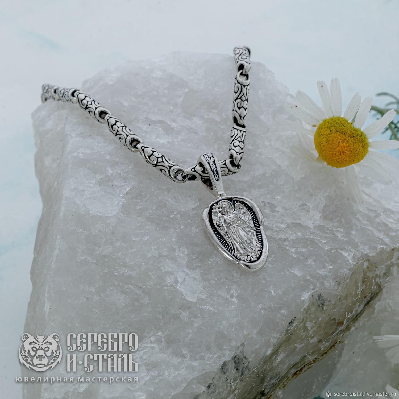 Ангел хранитель кулон православный серебро 925 с чернением, Подвеска, Санкт-Петербург,  Фото №1