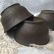Посуда ручной работы. Ярмарка Мастеров - ручная работа Пиалы керамические Улитки. Handmade.