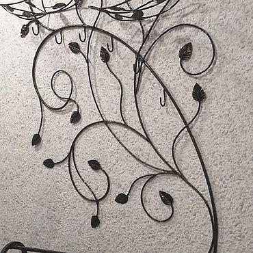 Мебель ручной работы. Ярмарка Мастеров - ручная работа Вешалка кованая Черное дерево. Handmade.