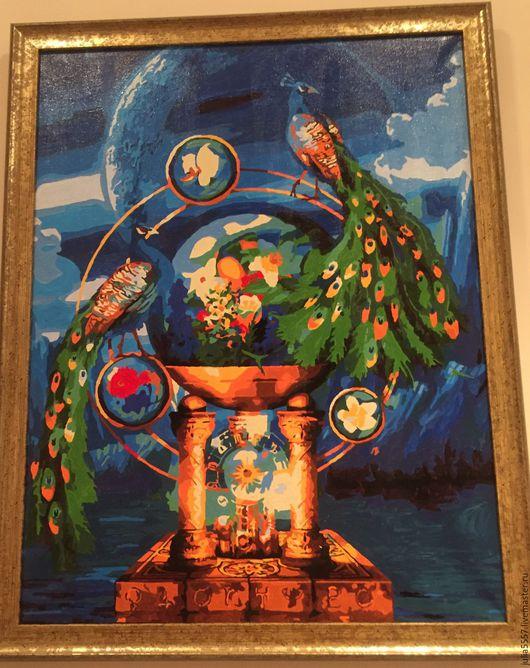 Иконы ручной работы. Ярмарка Мастеров - ручная работа. Купить Картина. Handmade. Синий, картина, холст