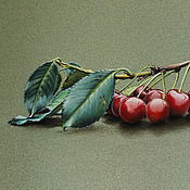 Картины и панно ручной работы. Ярмарка Мастеров - ручная работа Картина пастелью Ветка вишни. Handmade.