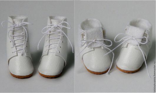 Одежда для кукол ручной работы. Ярмарка Мастеров - ручная работа. Купить Сапожки-ботинки для куклы.. Handmade. Разноцветный, ботинки для куклы