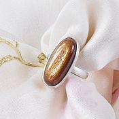 Кольца ручной работы. Ярмарка Мастеров - ручная работа Кольцо с солнечным камнем. Handmade.
