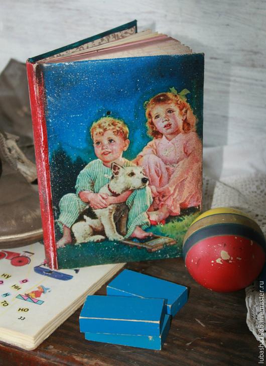 """Блокноты ручной работы. Ярмарка Мастеров - ручная работа. Купить Блокнот из вашего детства""""Летняя ночь"""". Handmade. Тёмно-синий, Декупаж"""
