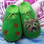"""Обувь ручной работы. Ярмарка Мастеров - ручная работа Тапочки """" Мой друг Йорик"""". Handmade."""
