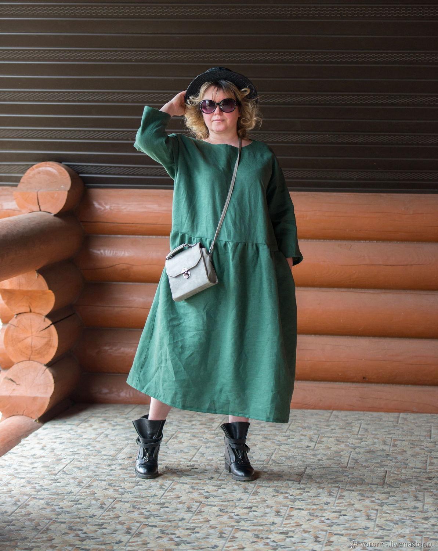 Linen dress ' fir branch', Dresses, Moscow,  Фото №1
