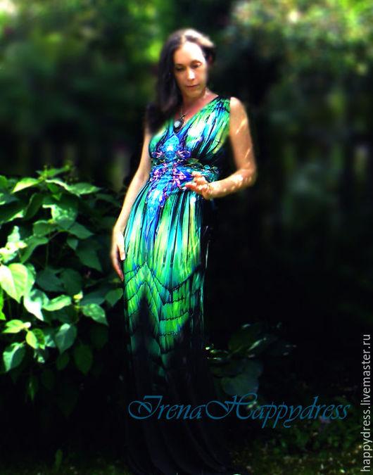 """Платья ручной работы. Ярмарка Мастеров - ручная работа. Купить Платье """"Хозяйка медной горы-2"""". Handmade. Ярко-зелёный"""