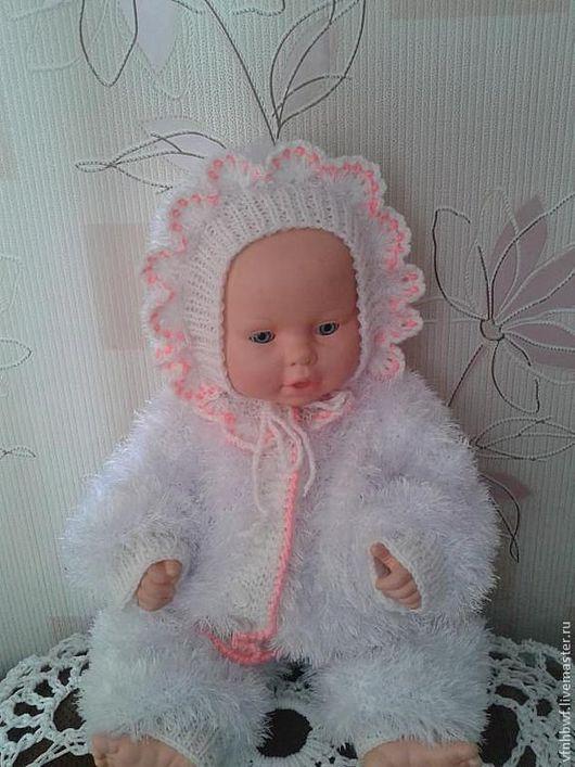 """Для новорожденных, ручной работы. Ярмарка Мастеров - ручная работа. Купить комлект для новорожденной """" Зимняя сказка"""". Handmade. Белый"""