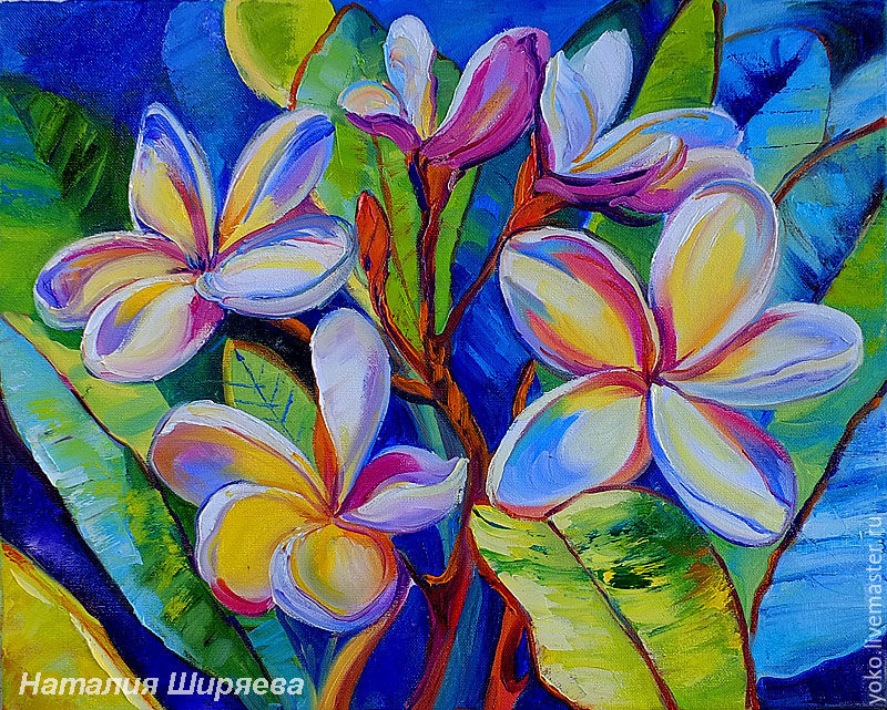 The picture 'Winter in the Tropics' - oil on canvas plumeria Thailand, Pictures, Voronezh,  Фото №1