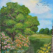 Картины и панно ручной работы. Ярмарка Мастеров - ручная работа зеленое лето. Handmade.
