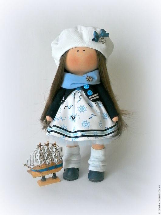 Коллекционные куклы ручной работы. Ярмарка Мастеров - ручная работа. Купить Кукла Морячка.. Handmade. Синий, море, подарок
