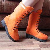 """Ботиночки зимние валяные """"Рыжий, рыжий..."""""""
