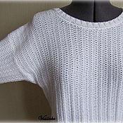 Одежда ручной работы. Ярмарка Мастеров - ручная работа Летний пуловер oversize с открытой спиной. Handmade.