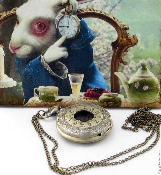 """Часы ручной работы. Ярмарка Мастеров - ручная работа. Купить Часы карманные """"Бронзовые римские цифры (стимпанк циферблат)"""". Handmade."""