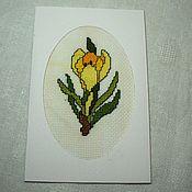 Открытки handmade. Livemaster - original item Postcard Crocus. Handmade.
