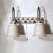 Для дома и интерьера handmade. Livemaster - original item Wall lamp with pattern for bathroom. Handmade.