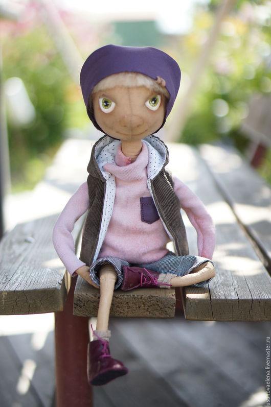 Куклы тыквоголовки ручной работы. Ярмарка Мастеров - ручная работа. Купить Сёма. Кукла текстильная интерьерная. Handmade. Комбинированный