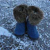 """Обувь ручной работы handmade. Livemaster - original item Валенки детские """"Где-то там жили мамонты"""". Handmade."""