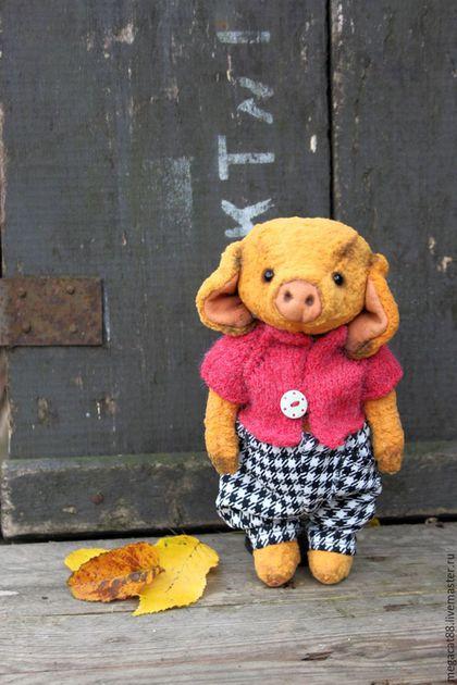 Мишки Тедди ручной работы. Ярмарка Мастеров - ручная работа. Купить Свинка тедди Ниф-Ниф. Handmade. Оранжевый, плюш
