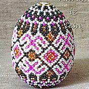 Русский стиль handmade. Livemaster - original item Easter eggs, egg bead, beaded green egg,Easter egg. Handmade.