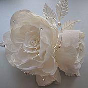 """Свадебный салон ручной работы. Ярмарка Мастеров - ручная работа Розы """"Белая сказка"""". Handmade."""