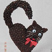 Для дома и интерьера ручной работы. Ярмарка Мастеров - ручная работа Кофейный кот. Handmade.