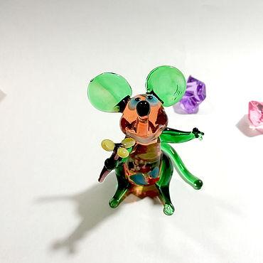 Souvenirs and gifts handmade. Livemaster - original item Hello green mouse. Handmade.