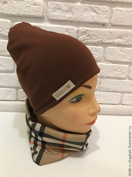 Детские аксессуары ручной работы. Ярмарка Мастеров - ручная работа. Купить Комплект из шапки и снуда на осень-весну для детей. Handmade.