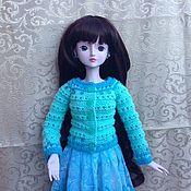 """Одежда для кукол ручной работы. Ярмарка Мастеров - ручная работа Кофточка """"Светлая бирюза """". Handmade."""
