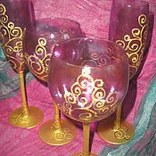 """Посуда ручной работы. Ярмарка Мастеров - ручная работа бокалы """"Византия"""". Handmade."""