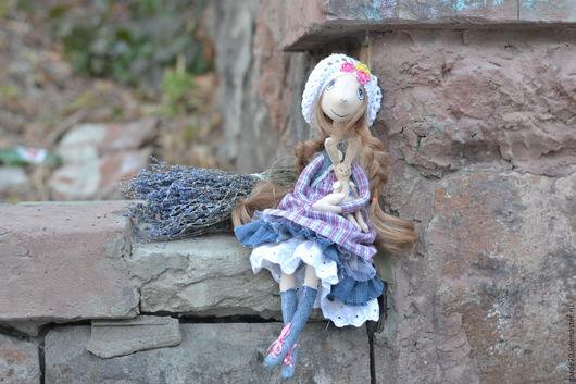 Коллекционные куклы ручной работы. Ярмарка Мастеров - ручная работа. Купить Текстильная кукла Глаша.. Handmade. Бледно-сиреневый