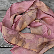 Scarves handmade. Livemaster - original item Narrow scarf silk
