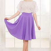 Одежда ручной работы. Ярмарка Мастеров - ручная работа Сиреневая юбка-солнце, пошив юбки. Handmade.